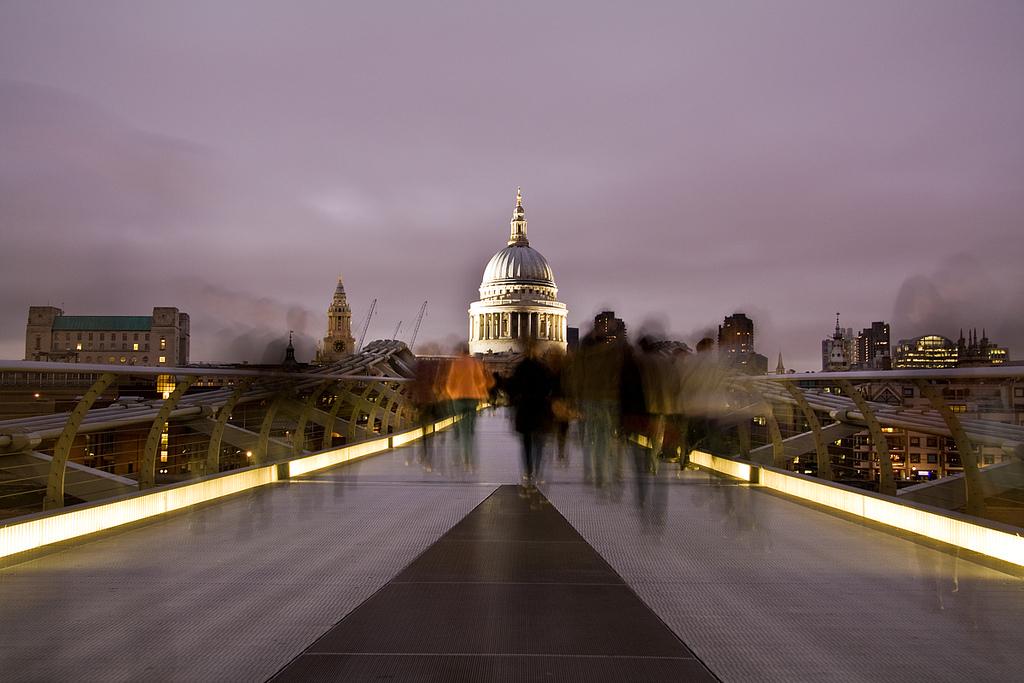 Ghosts of the Millenium Bridge by Vera Stevens